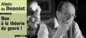 Alain de Benoist : «Non à la théorie du genre !» - blog éléments | Gender | Scoop.it