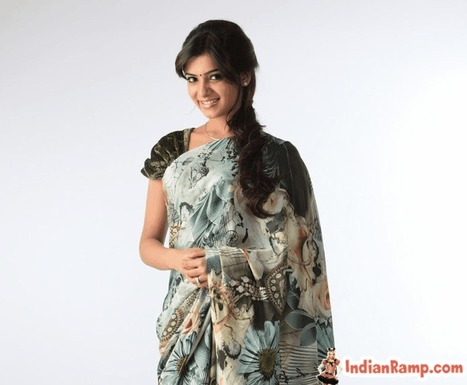 Samantha Ruth Prabhu in Indian Saree and Short Velvet blouse- IndianRamp.com | CHICS & FASHION | Scoop.it