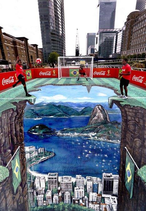 Coca-Cola se met au street art 3D pour la Coupe... | Art, marketing, communication et web 2.0 | Scoop.it