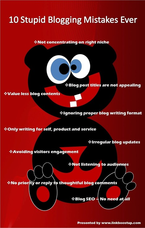 10 Stupid Blogging Mistakes Ever | Social media and Seo | Scoop.it