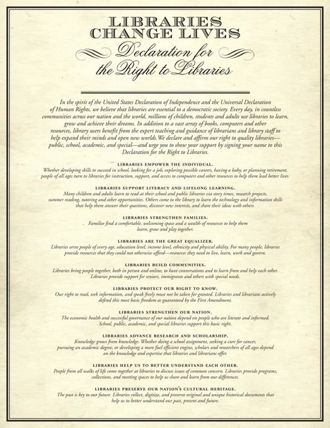 The Declaration for the Right to Libraries | I Love Libraries | Library | Scoop.it