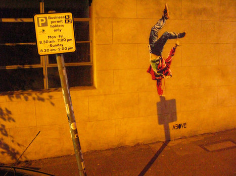 VIDEO: Stencil by Street Artist ABOVE, Shines During the Night | Cris Val's Favorite Art Topics | Scoop.it