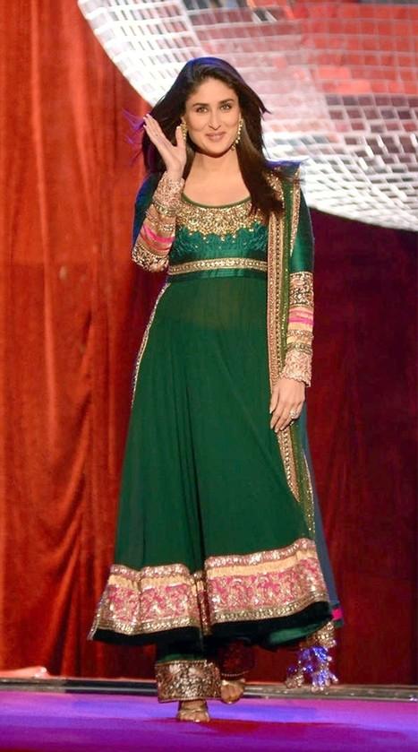 Gravity Fashion - Green Color Georgette Salwar Kameez   Bollywood Anarkali Dresses   Scoop.it