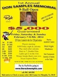 First Annual Don Samples Memorial 9ball Tournament - The Rack | Pool & Billiards | Scoop.it