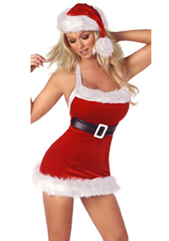 Sexy Chic Santa Velvet Dress –SexyLingeriesDeal.com | Christmas Costumes | Scoop.it