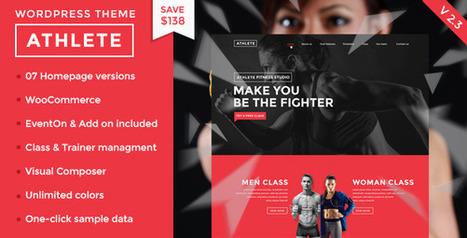 Athlete v2.3 - Fitness, Gym and Sport Wordpress theme | Technology Nutshell | Scoop.it