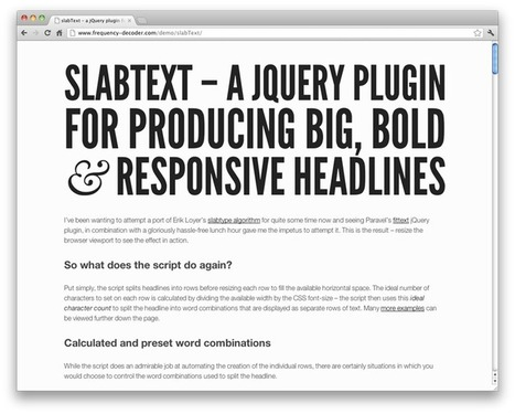 jQuery plugins for awesome web typography | CatsWhoCode.com | Typography | Scoop.it