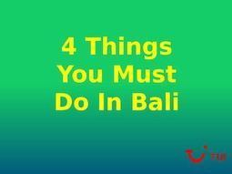 4 Things to Do on Your Bali Tour From India | Travel | Scoop.it