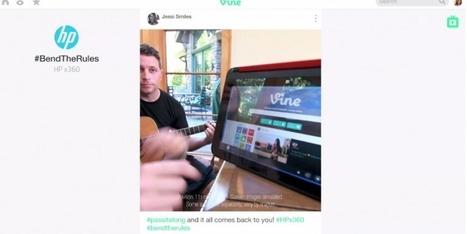 HP crée le premier spot télévisé entièrement fait à partir de Vines ! | Le marché de la vidéo en ligne | Scoop.it