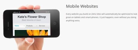 Free Website Builder, Mobile Websites : Zoho Sites | ICT in Education | Scoop.it