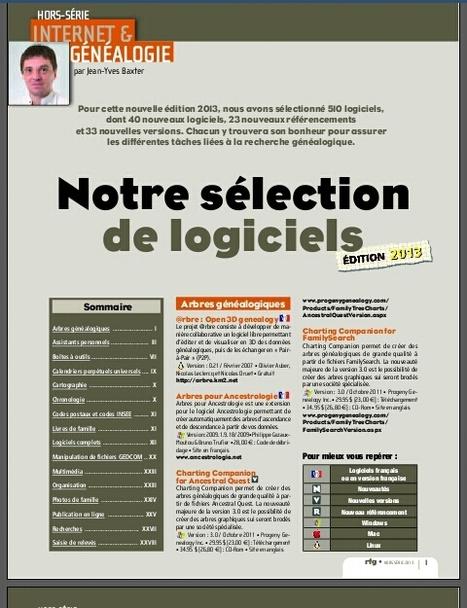 Dossier Logiciels 2013 - Revue Française de Généalogie | Nos Racines | Scoop.it