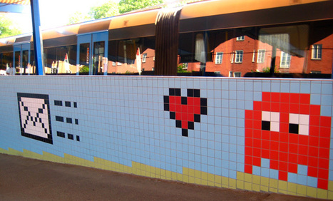 8-Bit Video Game Pixel Tile Art Installation in Stockholm Subway ... | Trains | Scoop.it