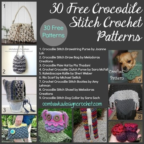 30 Free Crocodile Stitch Crochet Patterns | Free crochet patterns and tutorials | Scoop.it