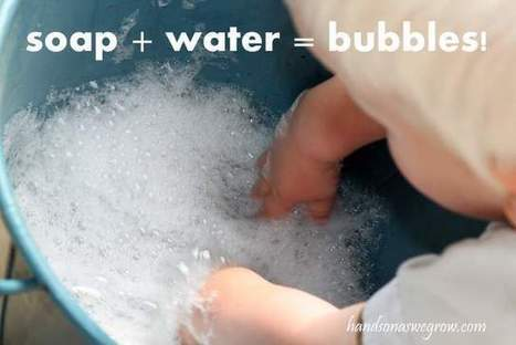 Toddler Bubbles Sensory Activity with Soapy Water   hands on : as we grow   Learn through Play - pre-K   Scoop.it