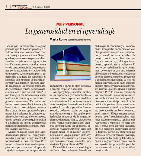 La generosidad en el aprendizaje | Educacion, ecologia y TIC | Scoop.it