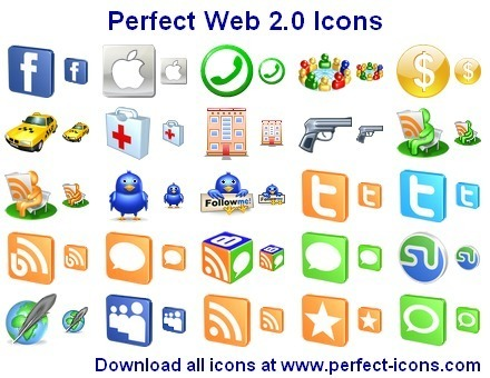 Perfect Web 2.0 Icons 2011.1 free download - Icons - Desktop ... | Websites I like | Scoop.it