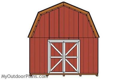 14x16 Barn Shed Roof Plans | MyOutdoorPlans | Free Woodworking Plans and Projects, DIY Shed, Wooden Playhouse, Pergola, Bbq | Garden Plans | Scoop.it