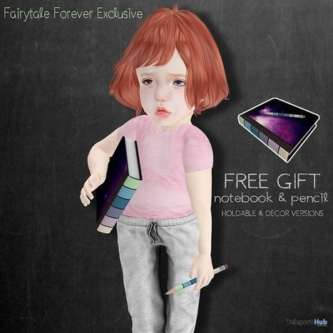 Galaxy Notebook & Pencil Fairytale Forever Event Gift By BoWillow | Teleport Hub - Second Life Freebies | Second Life Freebies | Scoop.it