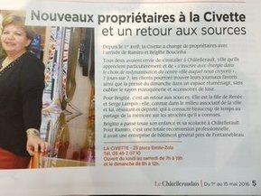 La Civette à Chatellerault!!!! @Brigmarie64 | Chatellerault, secouez-moi, secouez-moi! | Scoop.it