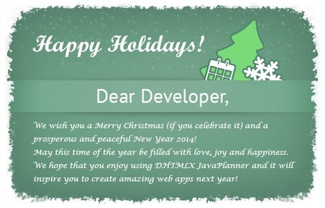Happy Holidays to All of You! | DHTMLX JavaPlanner | Scoop.it