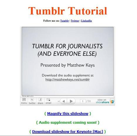 Tumblr tips for journalists | Social media kitbag | Scoop.it