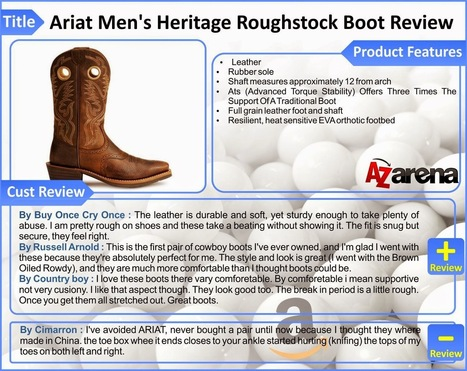 Ariat Men's Heritage Roughstock Boot Review | A-Z products review site - azarena.net | How to buy a Genuine Leather Jacket | Scoop.it