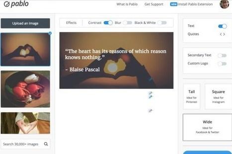 10 bons outils pour créer des images épatantes pour le web et les réseaux sociaux | Ma boîte à outils | Scoop.it