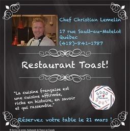 Québec fête la gastronomie française le 21 mars 2016! | Fête de la Gastronomie 23 au 25 sept. 2016 | Scoop.it