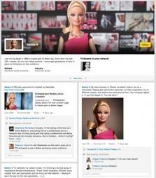 Barbie chef d'entreprise crée sa page Linkedln | Brand Content & Content Marketing | Scoop.it