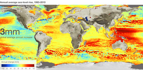 Satellites trace sea level change | Living with Climate Change | Scoop.it