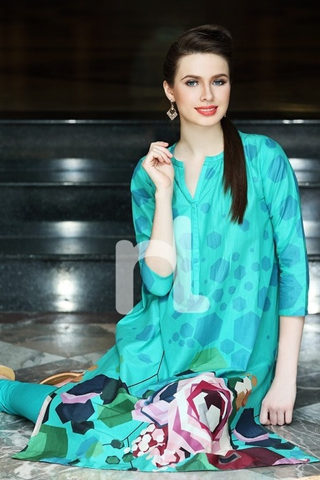 Colorful Printed Summer Wear Lawn Collection For Girls By Nishat Linen From 2014 | Women Fashion | Women fashion | Scoop.it