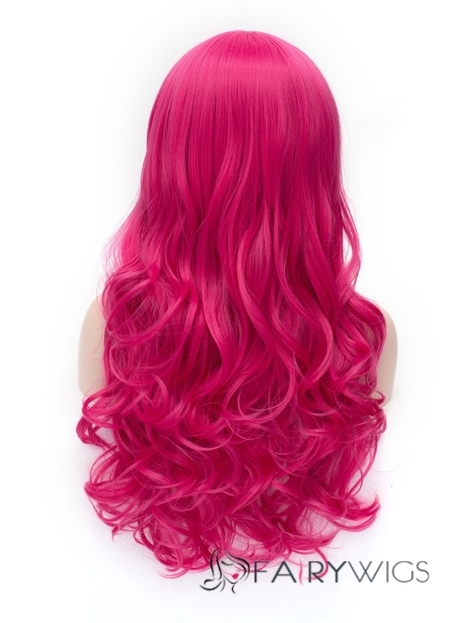 Romantic Rose Red wavy Side Bang Synthetic Wig : fairywigs.com | Synthetic Hair Wigs | Scoop.it