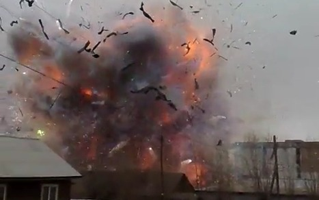 Russian fireworks factory explosion caught on video | Strange days indeed... | Scoop.it