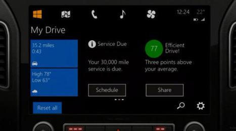Windows débarque dans les voitures   Actualité mobile, trucs et astuces   Scoop.it