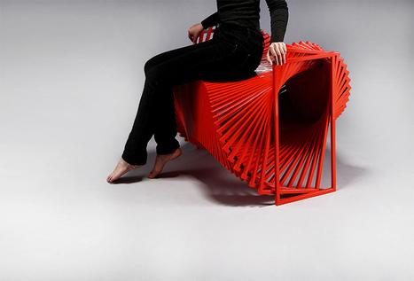 jeon kyung ok rotates straight lines in curved revolving chair - designboom | architecture & design magazine | Design&Architecture | Scoop.it
