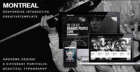 MONTREAL - THEMEFOREST RESPONSIVE CREATIVE HTML TEMPLATE | Take the world's best courses, online, for free | Scoop.it