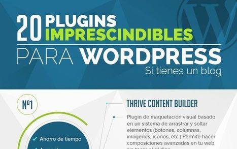 20 plugins imprescindibles si tienes un blog en WordPress (infografía) | Pedalogica: educación y TIC | Scoop.it