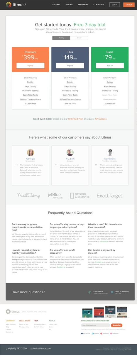 How to build the perfect pricing page on your website | Social Media, SEO, Mobile, Digital Marketing | Scoop.it