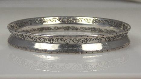 Vintage Sterling Silver Bangle Bracelet Delicate Floral Design   Vintage jewerly   Scoop.it