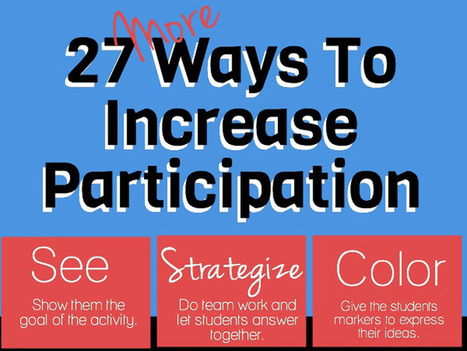 27 Ways To Increase Student Engagement In Learning | Science Education 7-12 | Scoop.it