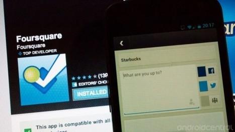 Foursquare si aggiorna con miglioramenti all'interfaccia utente | Social Media War | Scoop.it