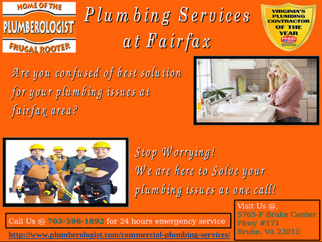 Plumbing Services at Fairfax by Plumberologist | Fairfax Commercial Plumbers | Scoop.it