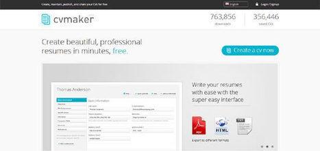 Top 10 Free Tools to Create Resume Online | Pensar DIferente | Scoop.it