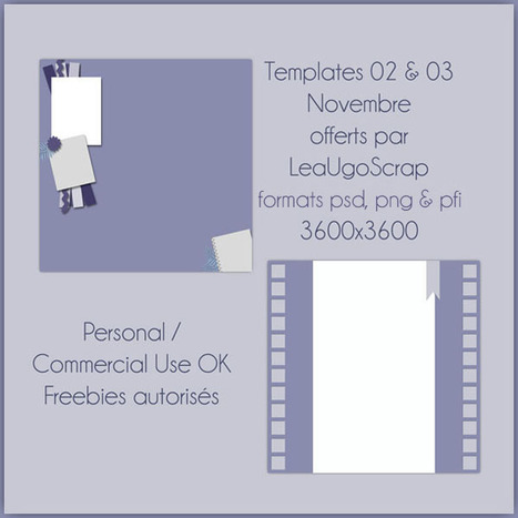 2 nouveaux templates free | Digiscrap | Scoop.it