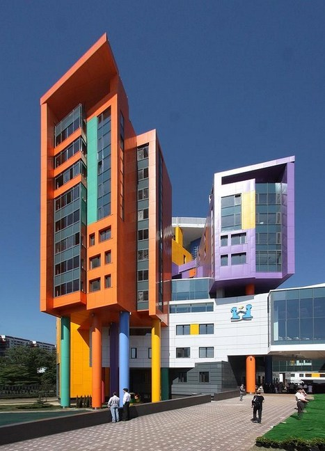 14 bright Buildings - Art meets architecture | Architettura, design, arredamento: le case più belle - LIVING INSIDE | Scoop.it