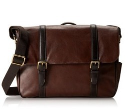 Fossil Men's Estate Saffiano Leather EW Messenger Bag | The Modern Man Bags | Best Messenger Bags For Men | Scoop.it