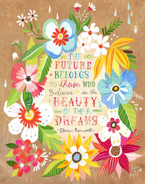 Charming Illustrations Fuse Nature with Quotes to Inspire Creativity in Our Own Lives | Le It e Amo ✪ | Scoop.it