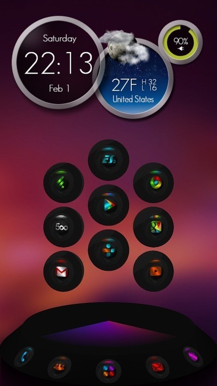 Next Launcher Theme Contrastum v1.9 | ApkLife-Android Apps Games Themes | hassanhamdy1990 | Scoop.it