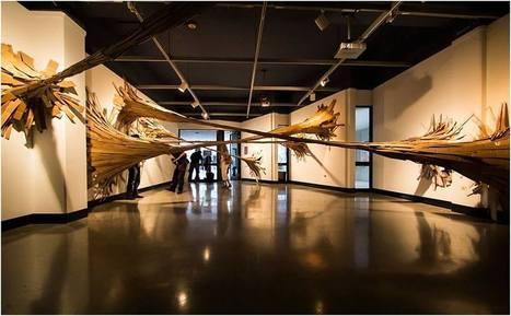 Sticky Bamboo Sculpture by Hongtao Zhou+graduate students | Art Installations, Sculpture, Contemporary Art | Scoop.it