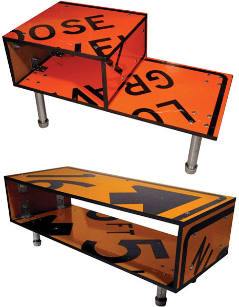 Street Furniture: 10 Stolen Signs Turned into New Designs | Art, Design & Technology | Scoop.it